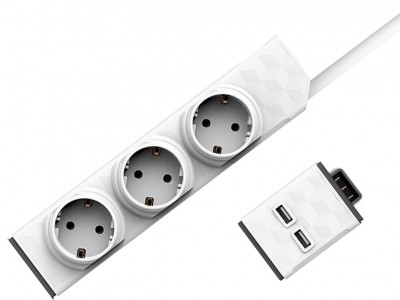 PowerStrip Modular Switch 1,5 m + USB modul
