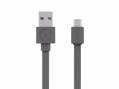Kábel MicroUSB (Android, Windows Phone) - Sivá